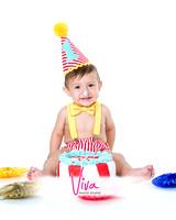 colorful-birthday-cake-smash-bow-tie-boy-first-bday